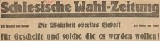 Schlesische Wahlzeitung, 1932, nr 5