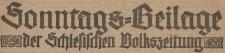 Sonntagsbeilage der Schlesischen Volkszeitung, 1924, nr 32
