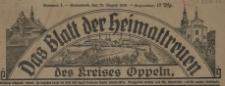 Das Blatt der Heimattreuen des Kreises Oppeln, 1920, nr 1-7, 10-18