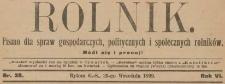 Rolnik : bezpłatny tygodniowy dodatek [do Katolika], 1900, nr 6, 9, 11, 33