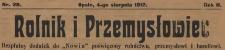 Rolnik i Przemysłowiec. Bezpłatny dodatek do Nowin poświęcony rolnictwu, przemysłowi i handlowi, 1912, nr 28