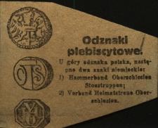 Odznaki plebiscytowe