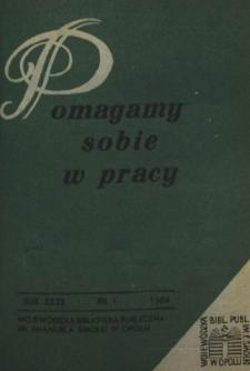 Pomagamy Sobie w Pracy : opolski kwartalnik informacyjno-metodyczny, 1980 nr 1