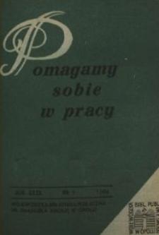Pomagamy Sobie w Pracy : opolski kwartalnik informacyjno-metodyczny, 1984 nr 1