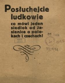 Posłuchejcie ludkowie co mówi jeden siedlok od Jasienice o Polokach i Czechach!