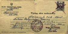 Kędzierzyn-Koźle : Wyciąg aktu małżeństwa Kramarczyka Ericha i Kulessy Małgorzaty