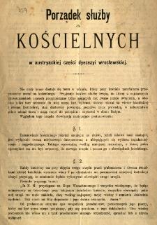 Porządek służby dla kościelnych w austryackiej części dycezji wrocławskiej