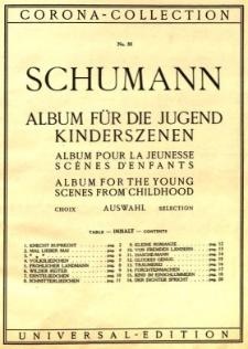 Schumann Album für Die Jugend Kinderszenen