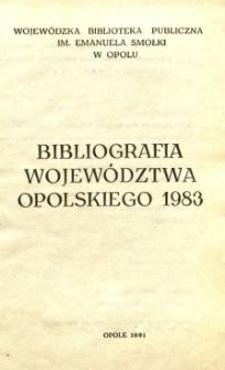 Bibliografia Województwa Opolskiego 1983