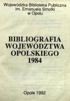 Bibliografia Województwa Opolskiego 1984