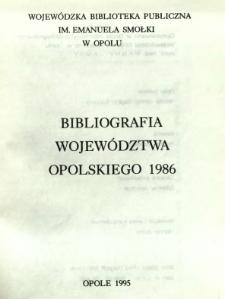 Bibliografia Województwa Opolskiego 1986