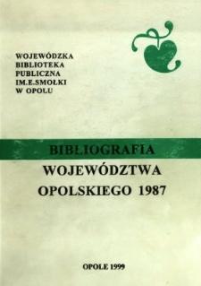 Bibliografia Województwa Opolskiego 1987