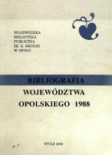 Bibliografia Województwa Opolskiego 1988