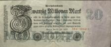 Reichsbanknote : Zwanzig Millionen Mark