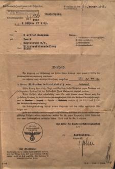 Ausfertigung der Landesversicherungsanstalt Schlesien