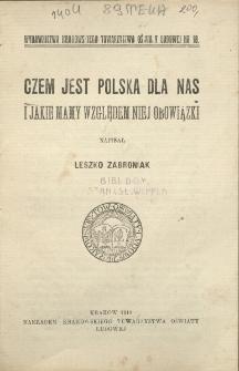 Czem jest Polska dla nas i jakie mamy względem niej obowiązki