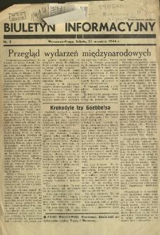 Biuletyn Infromacyjny z 23 września 1944 r.