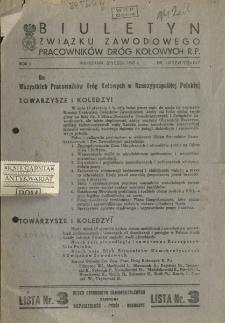 Biuletyn Związku Zawodowego Pracowników Dróg Kołowych R.P.