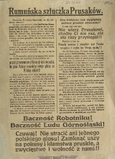 Rumuńska sztuczka Prusaków