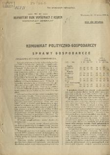 Komunikat polityczno-gospodarczy. Sprawy gospodarcze