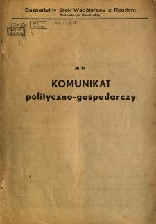 Komunikat polityczno-gospodarczy, sprawy rolne