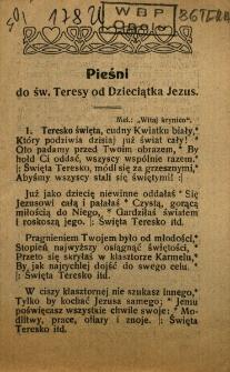Pieśni do św. Teresy od Dzieciątka Jezus