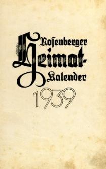 Heimatkalender des Kreises Rosenberg Oberschlesien, 1939