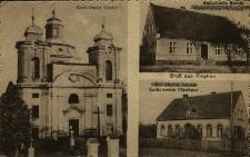 Cieszków : kościół z zewnątrz, szkoła