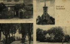 Bukowa Śląska : m.in. kościół , zamek, rodzina śląska przed domem