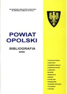 Bibliografia powiatu ziemskiego opolskiego za 2006
