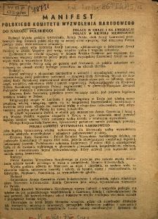Manifest Polskiego Komitetu Wyzwolenia Narodowego
