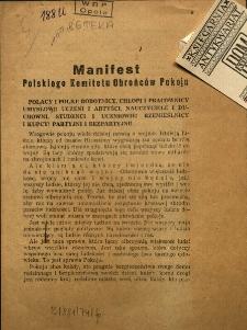 Manifest Polskiego Komitetu Obrońców Pokoju