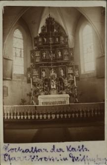Gryfów Śląski : kościół - widok na ołtarz główny