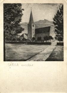 Sobótka : widok na nowo wybudowany kościół