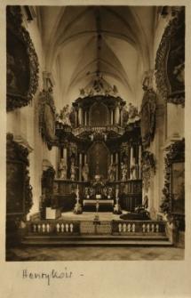Henryków : ołtarz główny w kościele klasztoru Cystersów