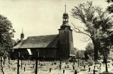 Koszęcin : kościół drewniany od strony cmentarza