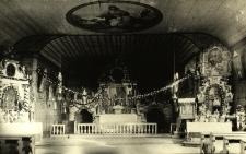 Koszęcin : wnętrze kościoła drewnianego