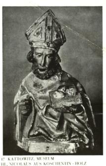 Koszęcin : figura św. Mikołaja
