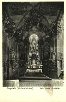 Kożuchów : ołtarz w kościele parafialnym