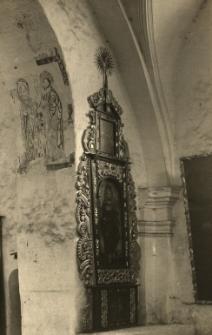 Jemielnica : ołtarz boczny, fragment starej polichromii w kościele cmentarnym