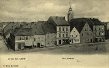 Kąty Wrocławskie : zabudowa rynku od strony zachodniej