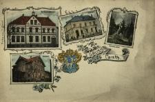 Kąty Wrocławskie : mleczarnia, poczta, zbór ewangelicki