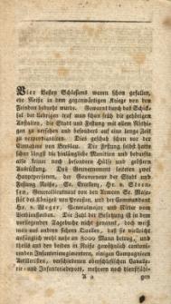 Die Belagerung von Neisse, vom 23. Februar bis 16. Juny 1807 : nach einem sorgfältig geführten Tagebuche : aus dem Breslaischen Erzähler abgedruckt