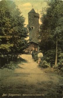 Głuchołazy : widok na wieżę widokową na dzisiejszej Górze Chrobrego