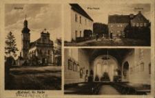 Prusinowice : kościół, plebania, szkoła