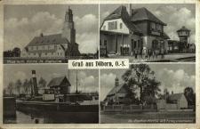 Dobrzeń Wielki : kościół pw. św. Katarzyny, dworzec, śluza, kościół pw. św. Rocha z pomnikiem
