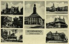 Olesno : kościół Bożego Ciała, biurowiec, kościół pw. św. Rocha, ratusz, rynek z ratuszem, kościół pw. św. Anny, urząd miejski