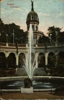 Wrocław : fontanna Gustava Freytaga na Promenadzie przy Wzgórzu Liebicha dziś Wzgórzu Partyzantów