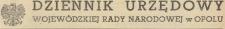 Dziennik Urzędowy Wojewódzkiej Rady Narodowej w Opolu, 1952, nr 1-14 + skorowidz