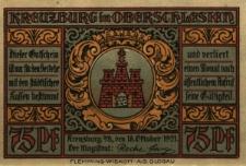 """Kluczbork : [awers:] Kreuzburg in Oberschlesien [rewers:] 75 Pf """"Die 12 Apostel"""" liebe alte Stadt"""